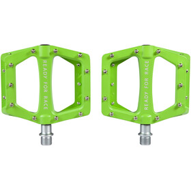 Cube RFR Flat Race Pedals, green